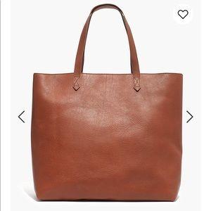 Madewell Large Zip Top Transport Tote Bag Saddle